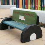lorry bench , garden furniture, friendship bench, gardens ,sculpture, school playground, durable,fun, outdoor furniture, bespoke, custom made,