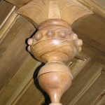 reclaimed pitch-pine, pendant finial, drop finial, restoration, architectural joinery and turning, specialist joinery, Victorian joinery , custom made joinery, bespoke joinery,