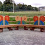 butterfly benches ,butterfly seat ,school playground, friendship seat, friendship bench, custom made , outdoor classroom,