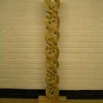 oak knotwork column ,solid oak, celtic knotwork, celtic design, hand carved, sculpture,Scottish, bespoke, custom made,