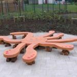 octopus bench ,school playground, friendship seating, octopus sculpture, friendship bench, outdoor class, bespoke furniture,