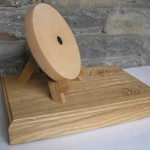 archery target trophy, archery target, sculpture, solid oak, sycamore, archery,hand carved, award, bespoke, custom made,