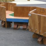 zig-zag seating, zig-zag benches, school seat, playground seating, solid oak, friendship seat, friendship bench, bespoke, custom made,