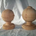 pitch pine, newel caps, restoration, reclaimed wood, custom made, bespoke, Scottish,