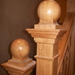 solid oak, newel caps, arts and crafts, oak, custom made, bespoke, hand made, Scottish,
