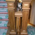 newel post, restoration, reclaimed, pitch pine, bespoke, custom made, replica,