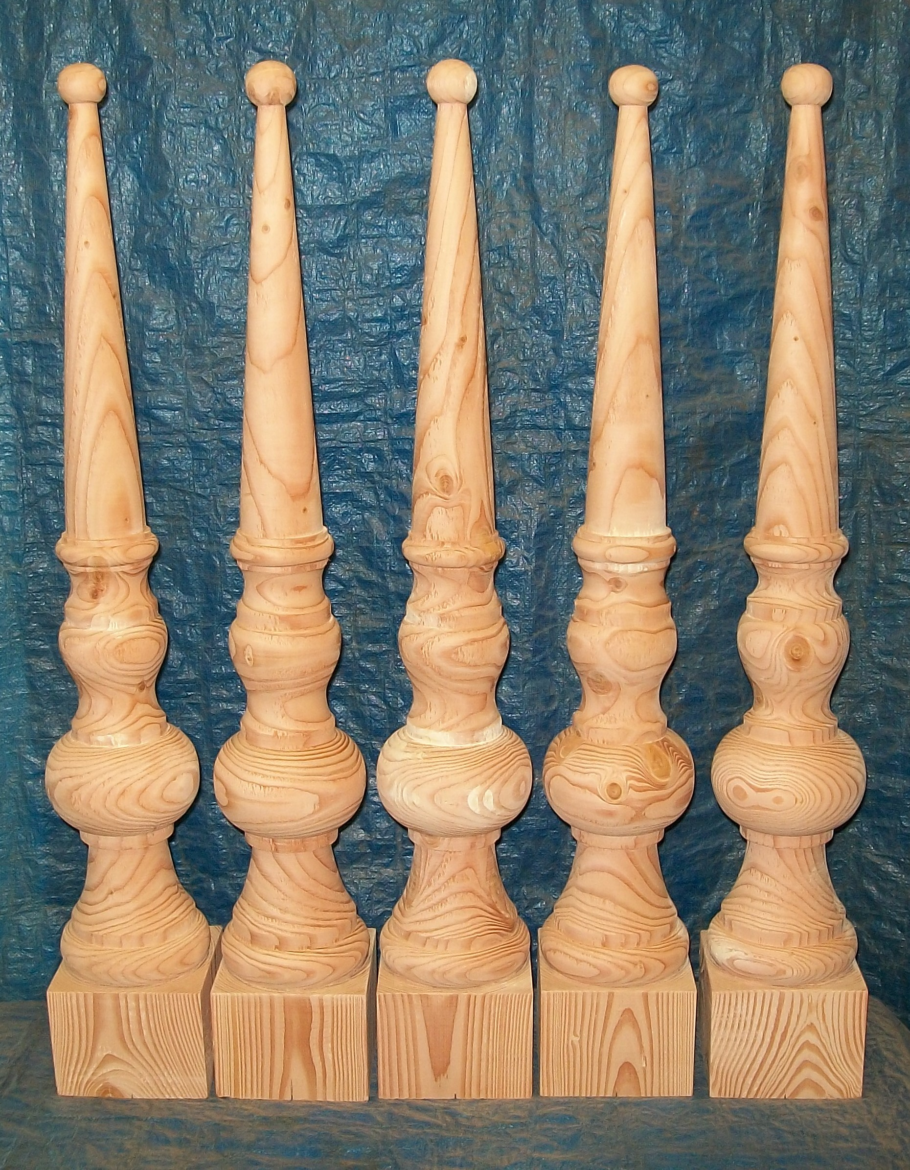 finials, restoration, Victorian, woodturning, Scotland, douglas-fir, oak, pitch-pine, bespoke, custom made,