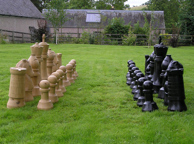 Outdoor chess set sea of inventions - Hello kitty chess set ...