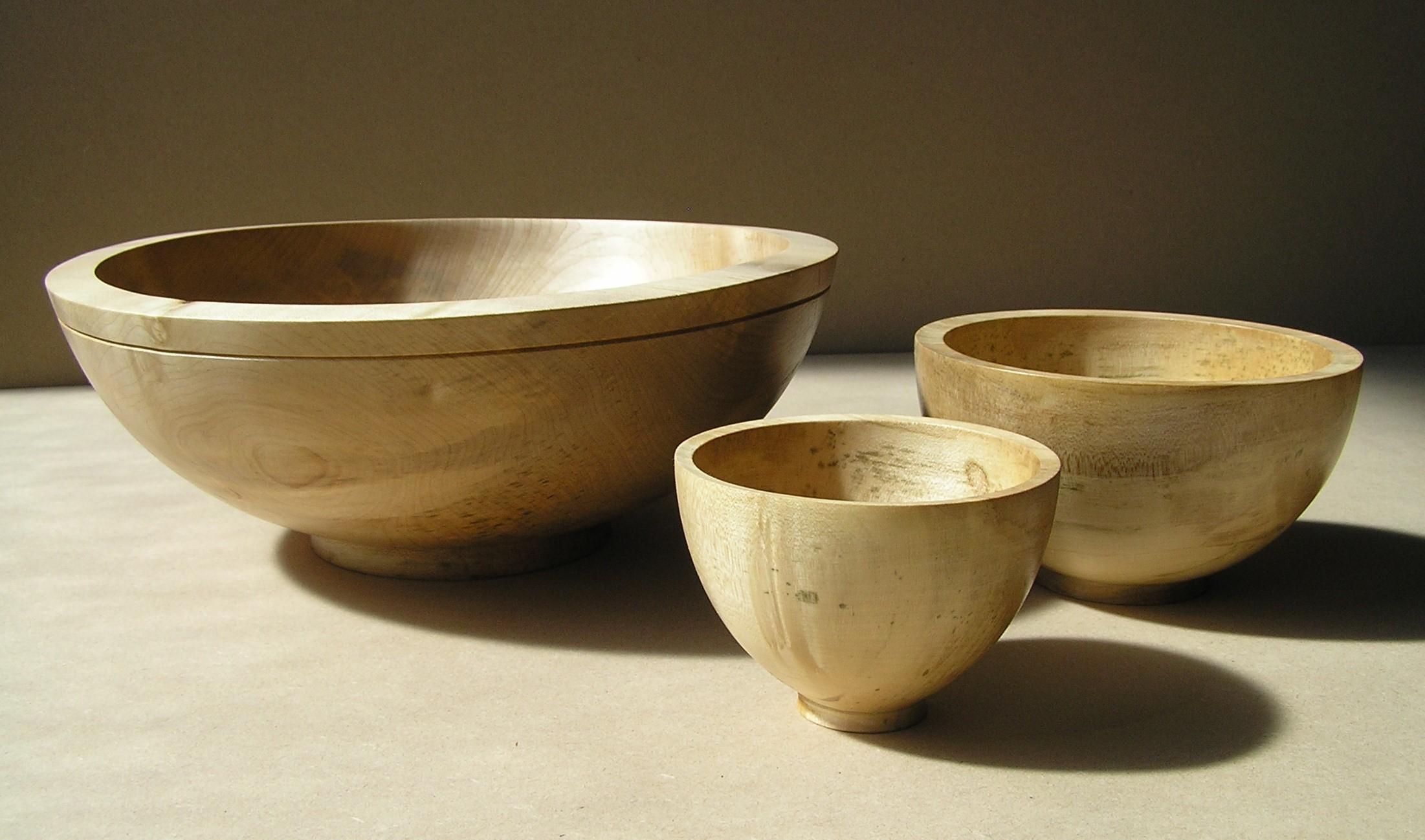 sycamore bowls , sycamore , bowls, woodturning, green wood, Scottish, Scotland, woodturner, wooden bowl, custom made, bespoke, wedding gift,