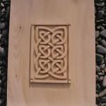 celtic knotwork panel ,hand carved, celtic knotwork, scotland, cedar, carving, scottish, celtic design, knotwork panel, wedding gift, bespoke, custom made, Scottish,