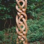 outdoor celtic knotwork , hand-carved, custom-made, bespoke, Scottish, Scotland, reclaimed, wood, celtic knotwork, sculpture, outdoors,