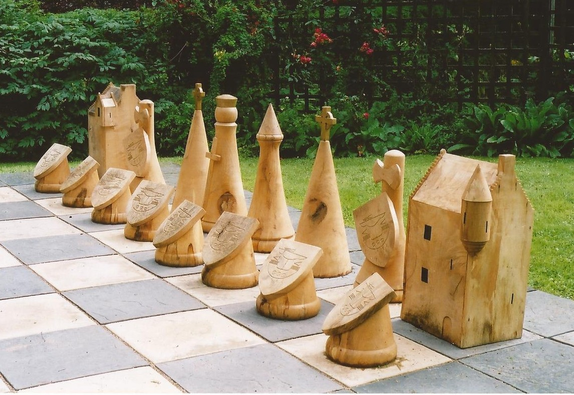 Medieval chess pieces by Neil Fyffe