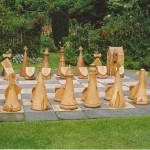 chess pieces , themed chess pieces, outdoor chess, chess sets, Scottish, medieval, sculpture, garden game, hand-made, woodturning,
