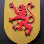 Bannockburn Anniversary, 1314, Scottish oak, carved shield, lion rampant,Clan MacDuff , MacDuff shield, bespoke carving, custom made carving,Scottish carving,