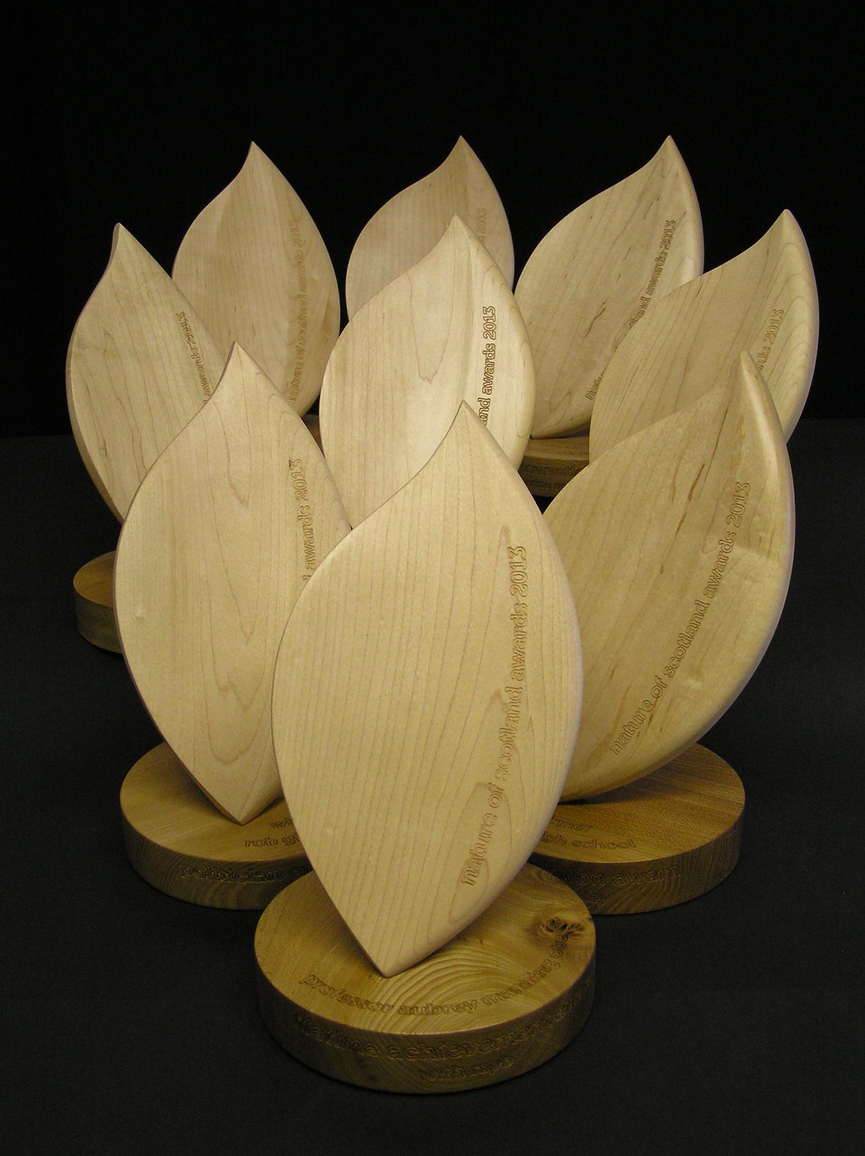 designed, hand-made, bespoke, RSPB, sycamore, elm, Scotland, made in Scotland, awards, sculpture,
