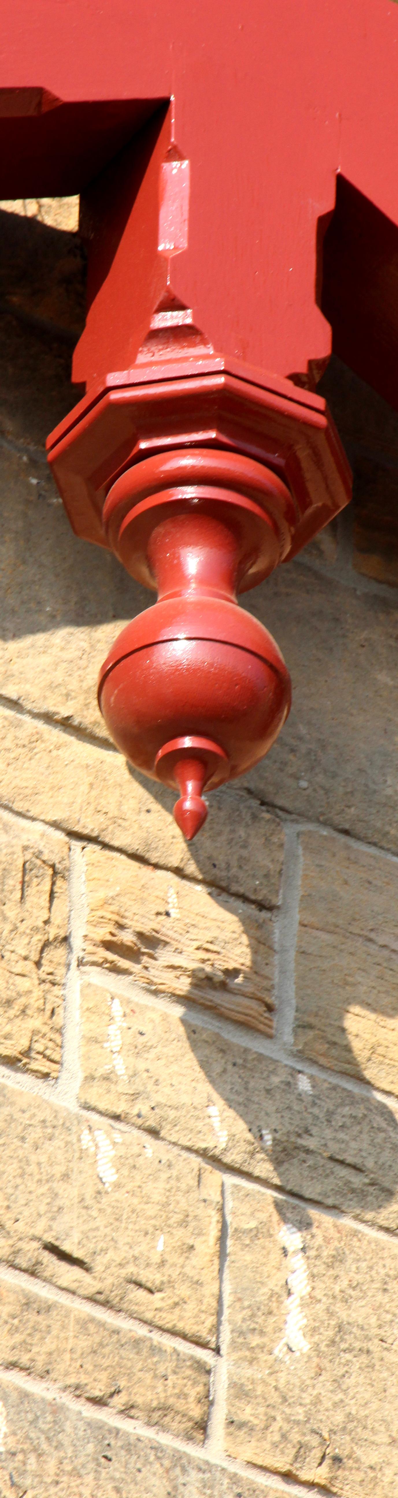 pendant finial, specialist joinery, reclaimed wood, restoration, Barnton Hotel, Scotland