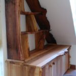 elm, burr elm, bespoke furniture, custom-made furniture, Scottish furniture, cabinet, shelves, dresser, furniture,