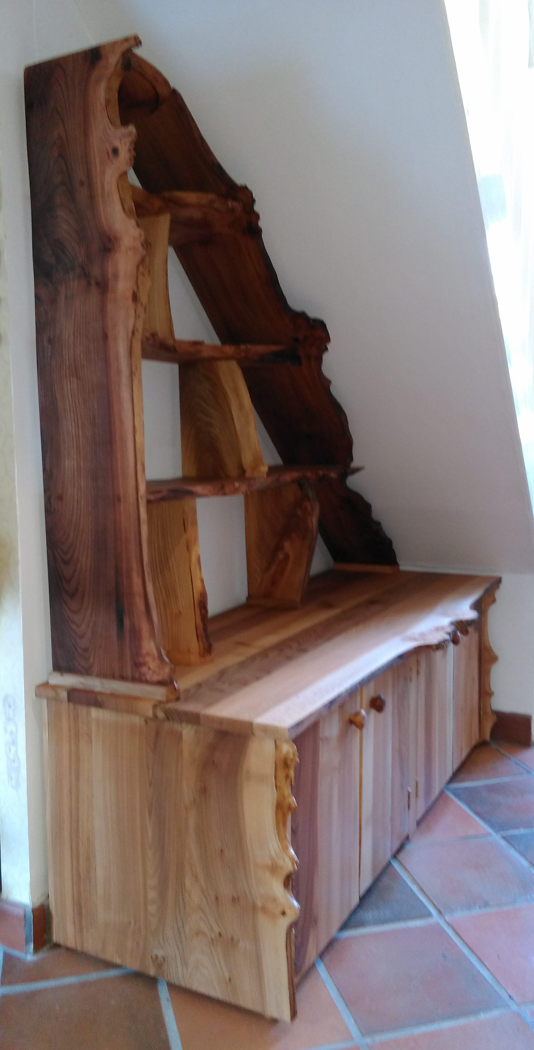 elm, burr elm, bespoke furniture, custom-made furniture, Scottish furniture, cabinet, shelves, dresser, furniture,