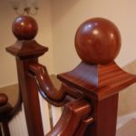 newel cap, mahogany, custom made, restoration, Victorian, replica,